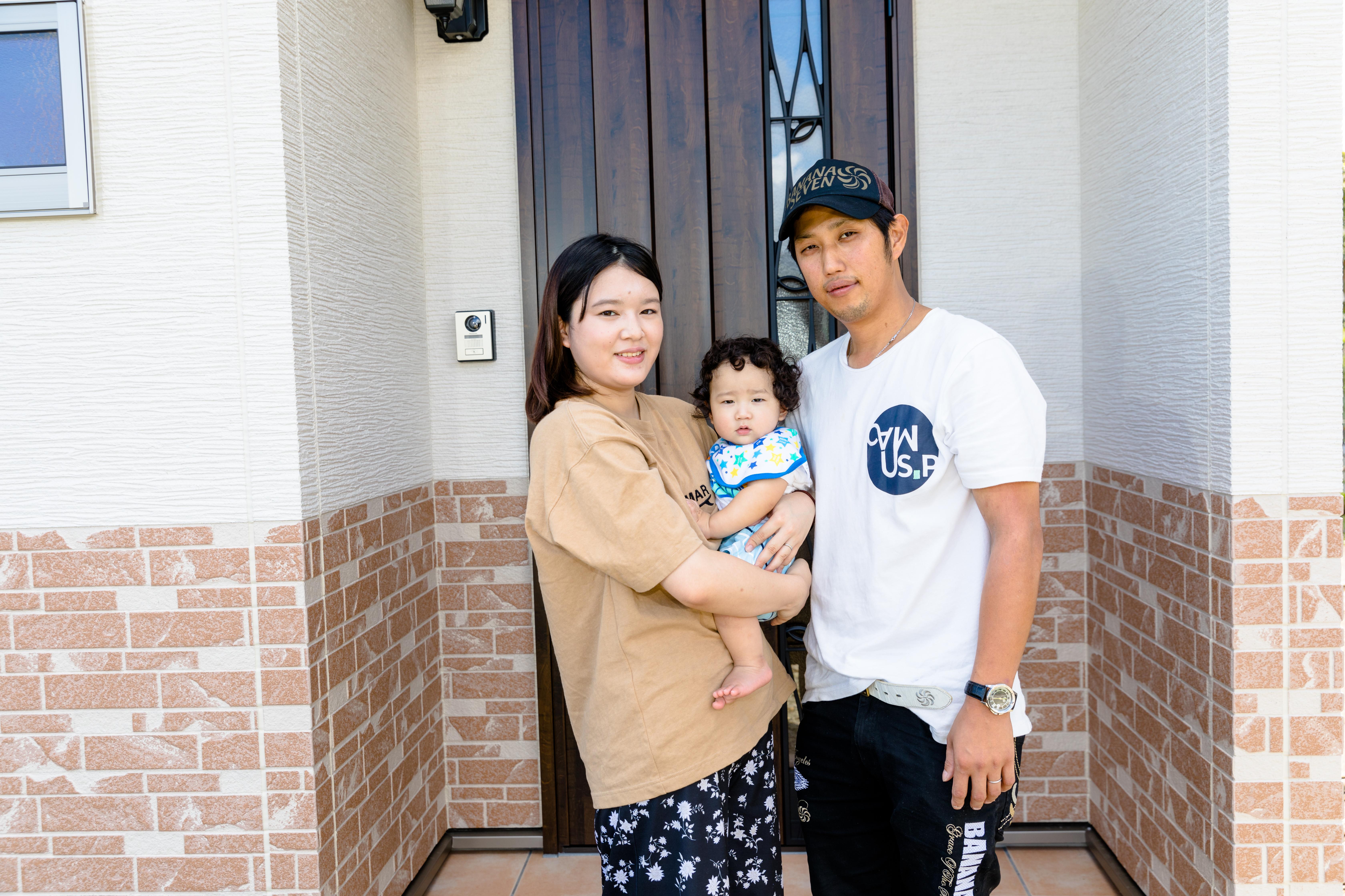 希望通りの家が建てられて家族の笑顔が増えました。